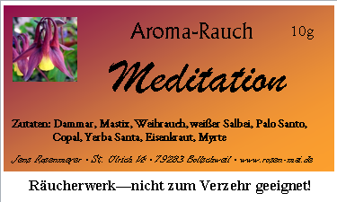etiketten raeucherwerk meditation